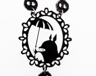 Totoro cameo necklace