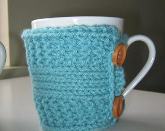 Teacher gift Coffee mug cozy tea cozy friend mother gift for teacher  knit cup warmer knit mug cozies knit coffee sleeve gifts under 20