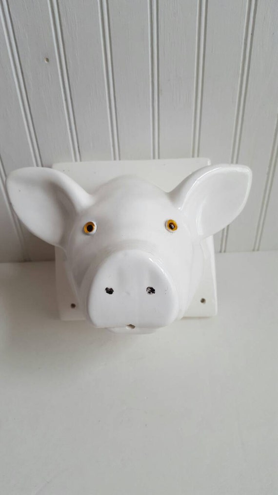 Kitchen Decor Pig Decor Farmhouse Vintage Decor Pig Wall