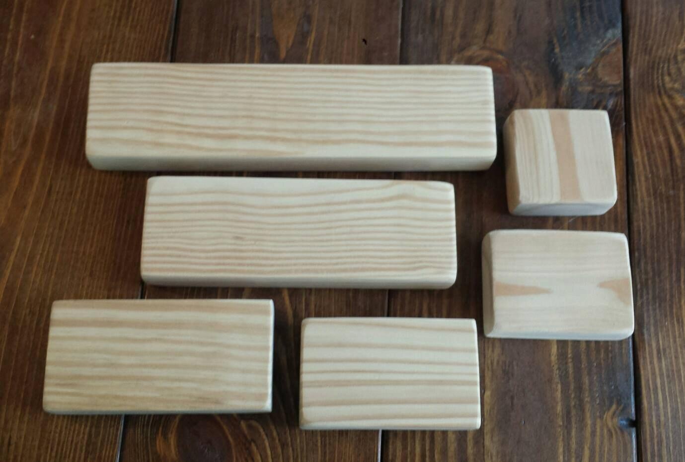 Custom wood shelf board shelving wooden sign block blank for Wooden blocks craft supplies