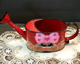 Vintage Metal Gingerbread Watering Can, Gingerbread Decor,, Home Decor,,Flower Watering Can,,
