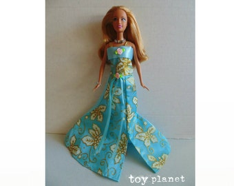 OOAK BARBIE Doll - New Fashion  & Jewelry Set - strawberry blonde in baby-blue gown