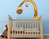 Giraffe Wall Decal - Nursery Wall Decal - Play Room Wall Decal - Playroom Wall Decal - Animal Wall Decals - Custom Decals - 07-0008