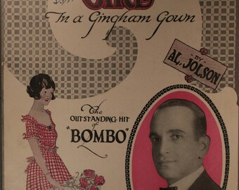 """1922 Sheet Music, """"Old Fashioned Girl"""""""