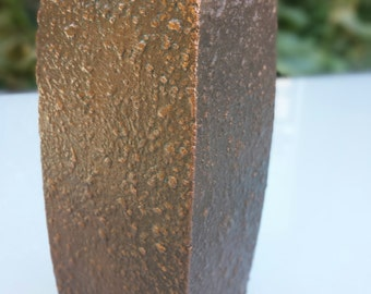 Vintage hammered copper vase mid century