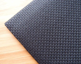 Aida Needlecraft Fabric: 30 x 45cm - 14 Count - Black