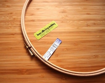 HOOP Elbesee Embroidery Hoop - CHOOSE Size - wooden hoop - made in the UK - for hand and machine embroidery and other crafts