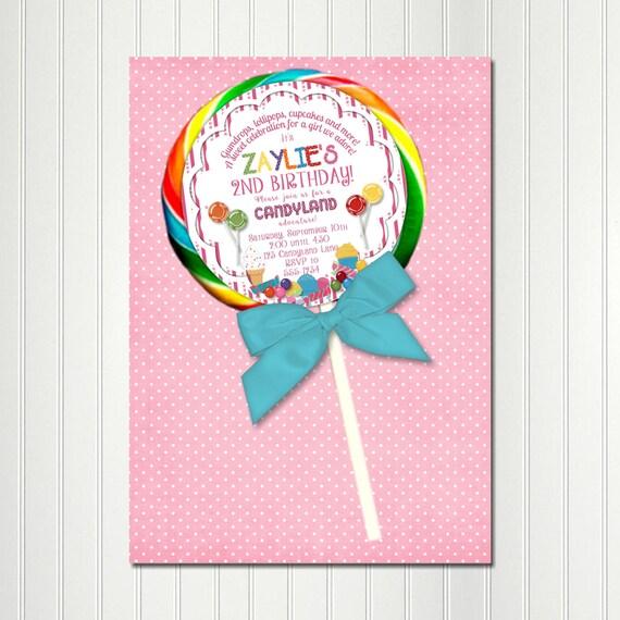 Candy invitation lollipop stickersweet shop invitation sucker il570xn filmwisefo