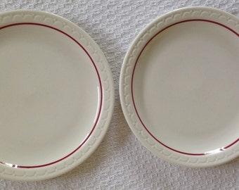 Syracuse China Cardinal Lines Plates - Set of 2