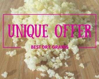 Unique Russian Milk Kefir Grains | Dehydrated (Dry) Natural Diet Remedy Starter | Limited Offer | Free delivery worldwide