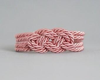 Pink Bracelet, Nautical Bracelet, Knot Bracelet, Rope Bracelet,Sailor Knot,Love Knot,Rope Knot Bracelet,Knot,Nautical Knot,Friendship,Pink