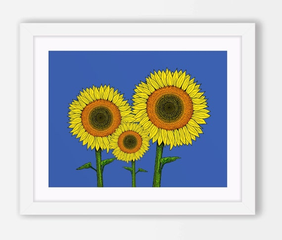 Vintage Sunflower Wall Decor : Sunflower decor art wall printable