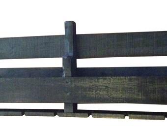 Reclaimed Wooden Wall Wine Rack in Walnut