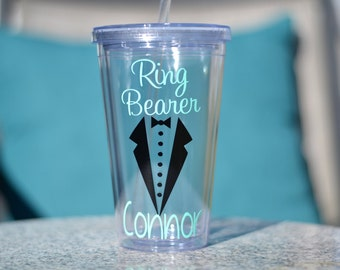Ring Bearer Gift,Ring Security, Junior Groomsman, Usher Gift - you pick colors and add name for free