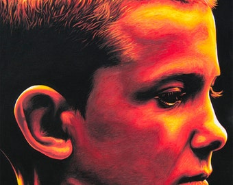elevEn - art prints of an original eightangrybears painting (Millie Bobby Brown/Stranger Things)
