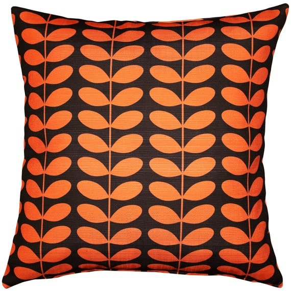 Modern Orange Pillow : Mid-Century Modern Orange Throw Pillow 20x20