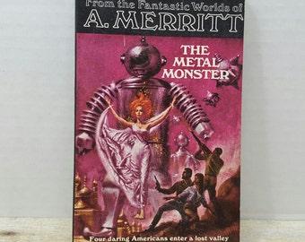 The Metal Monster, 1966, A Merritt, vintage sci fi, science fiction