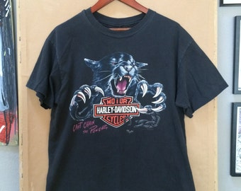 "Vintage Harley Davidson T-Shirt ""Cant Chain the Power"" 1992"