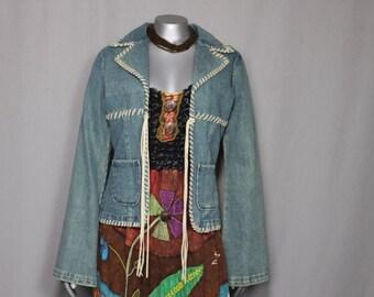 BoHo Hippie Little Bit Country Blue Jean Jacket