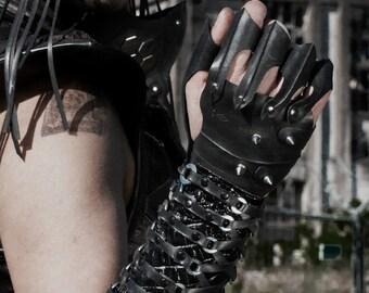 Apocalyptic Upcycled Bike Tire Inner Tube 3-Fingered Gloves