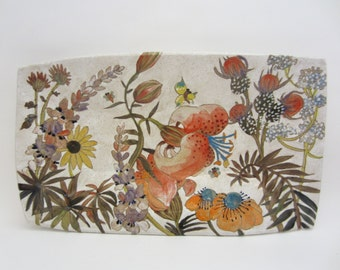 Flowers & Pigment Large Rectangular Tray