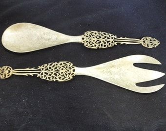 Large decorative spoon and fork