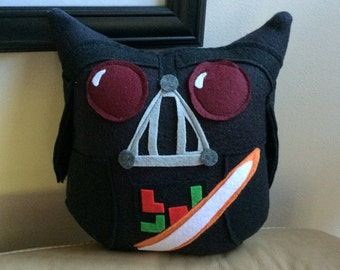Darth Vad-owl Plushie- Inspired by Star Wars- Plush Star Wars Characters- Black