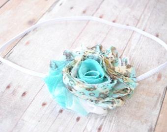 Aqua Floral Headband