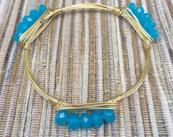 the ARCTIC ICE RONDELLE  bangle bracelet (tarnish resistant)