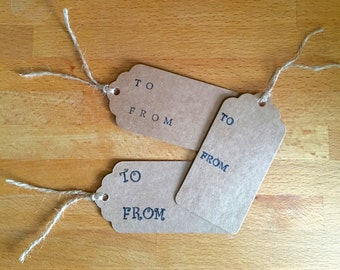 To/From Gift Tags (Pack of 10)