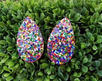 Razzle Dazzle- Handmade Wooden Earrings
