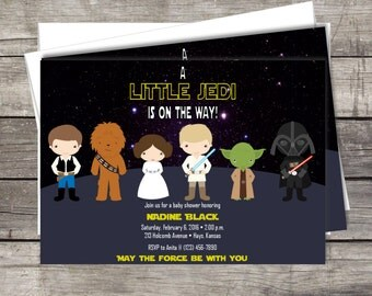 Star Wars baby shower invitation | Customized for your Event | DIY or Printed & Shipped