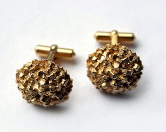 1950s Christian Dior cufflinks gold plated modernist space age
