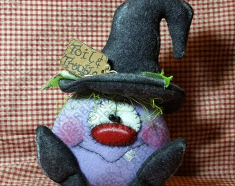 E-Pattern - Toil and Trouble Witch Pattern #183 - Primitive Doll E-Pattern