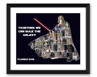 Star Wars Force Jedi Cosplay Dark Side Jedi Academy Hollywood Studios Disney Inspired Darth Vader Custom Photo Collage Digital Printable