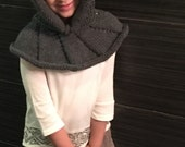 Knitted Kid's- Toddler Hooded Cowl