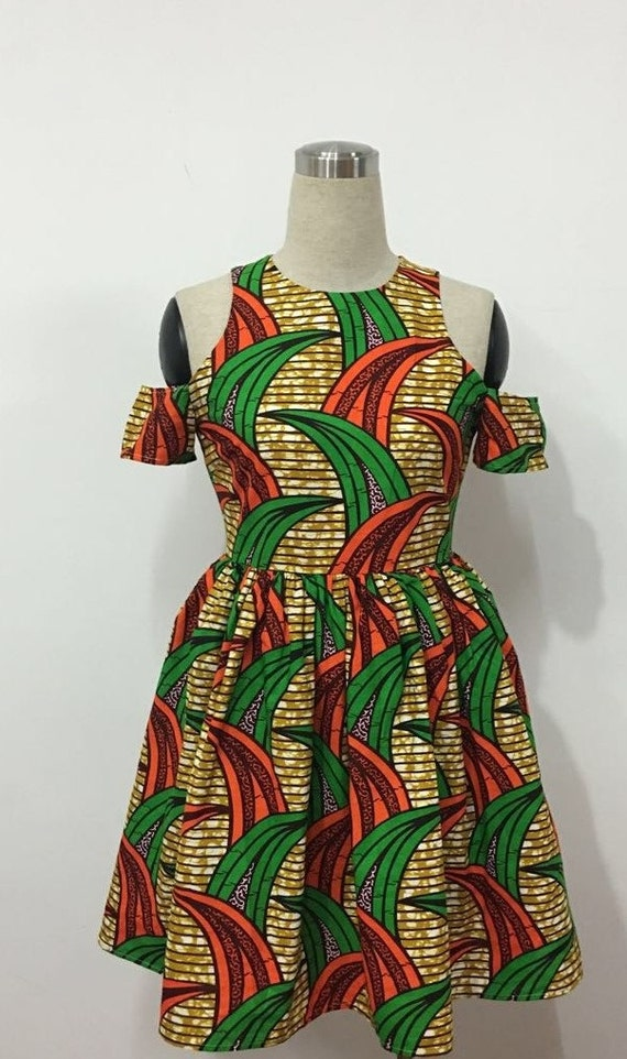 Blossom African Print Dress Limited quantity