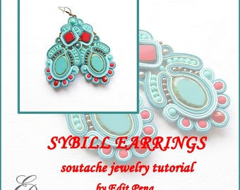 TUTORIAL ONLY Hand Embroidered Soutache Tutorial, step by step pattern in English