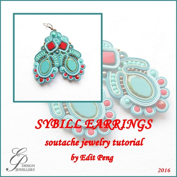 Tutorial only hand embroidered soutache step by