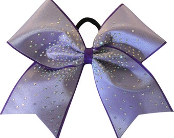 Cheer Bows - Purple Pizzazz Rhinestone Cheer Bow