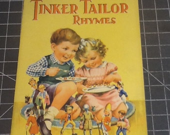 vintage tinker tailor jumbo childrens book with incredible graphics.
