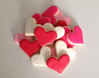 2 dozen Mini Heart Sugar Cookies