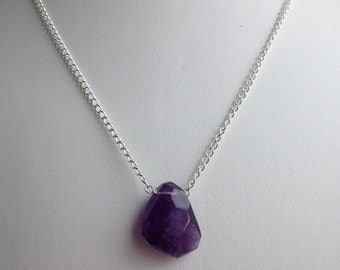 Simple Amethyst Chain Necklace