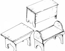 SF501 - 18th Century Camp Furniture Plans by Smoke & Fire
