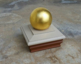 Post cap for sign post 23K Gold Leaf ball
