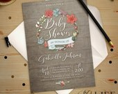 Baby Shower Invitation | April Showers Bring May Flowers Baby Shower Invitation Digital Printable Professionally Printed DIY No. I271