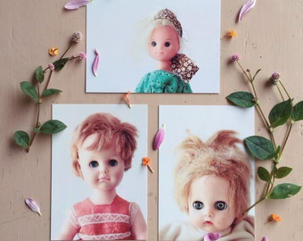 Bed Head Days - Vintage Doll Postcards