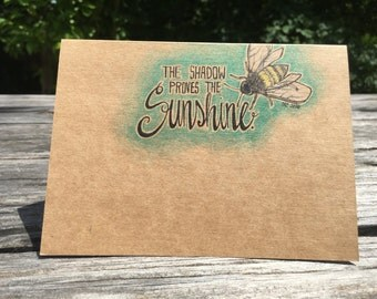 Sunshine - Hand Drawn Greeting Card