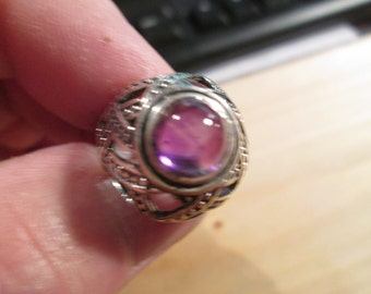 RING, Amethyst ring...Celtic design by TonyL...size 8