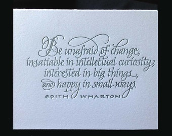 Literary Quote by Edith Wharton in Calligraphy
